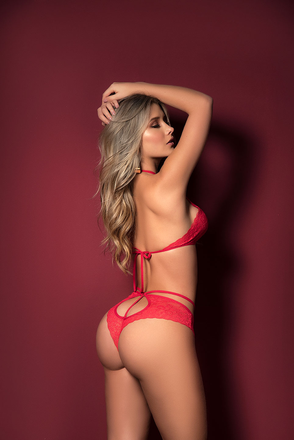 Valentine's halter top and matching cheeky bottom