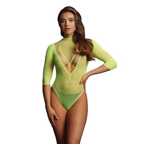 Le Desir Bliss Green Short Sleeve Teddy UK 6 to 14