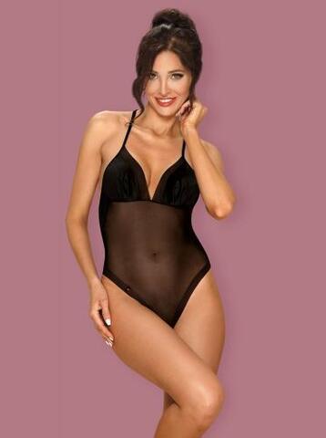 Alifini Sheer Bodysuit With Wing Print - Black