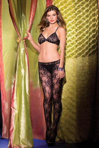 Crotchless Bodystocking With Cut Out Front