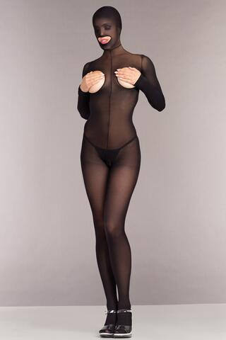 Cupless And Crotchless Hooded Bodystocking