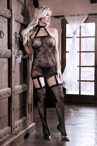 High Society Halter Dress - Black
