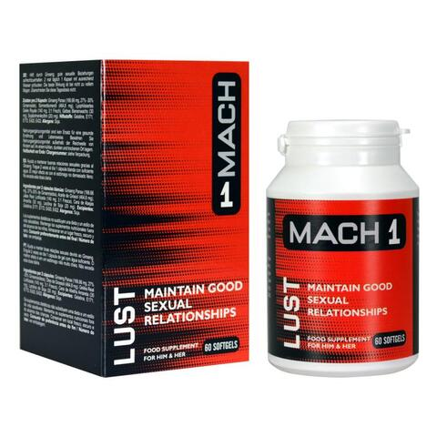 Mach 1 - Lust Libido Aphrodisiac For Men - 60 soft gels