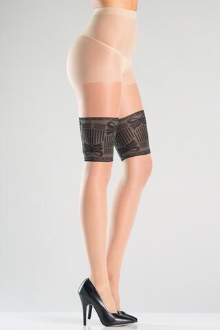 Pantyhose With Garter Print