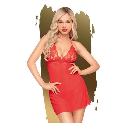 Penthouse Lingerie - Bedtime Story Negligee - Red