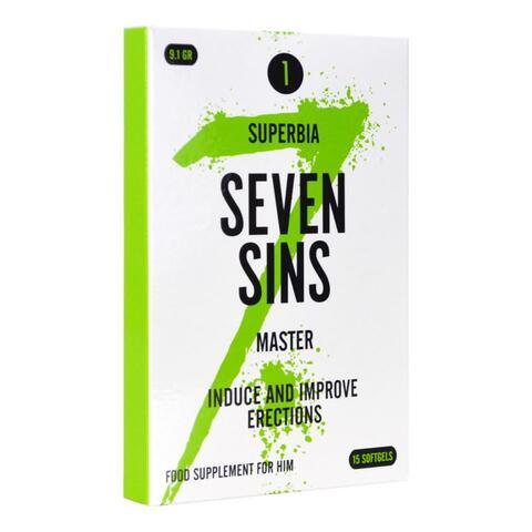 Seven Sins - Master - Aphrodisiac for Men - 15 softgels