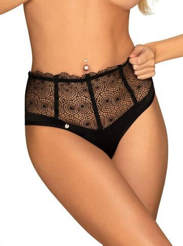 Sharlotte High Waist Panties - Black