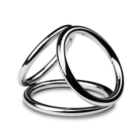 Sinner - Triad Chamber Metal Cock and Ball Ring - Large