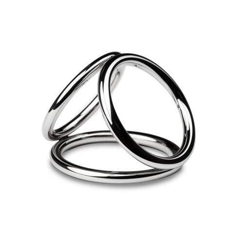 Sinner - Triad Chamber Metal Cock and Ball Ring - Medium