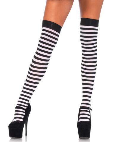 Striped Stockings - Black/White