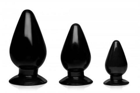 Triple Cones Anal Plug Set Of 3
