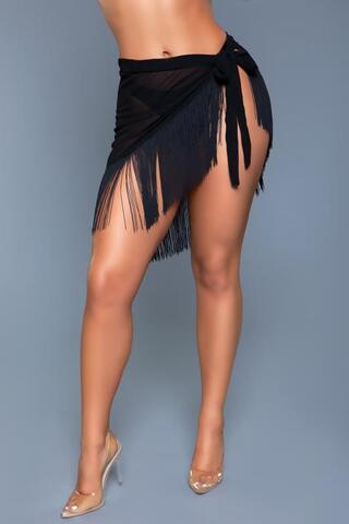 Vania Wrap Skirt - Black
