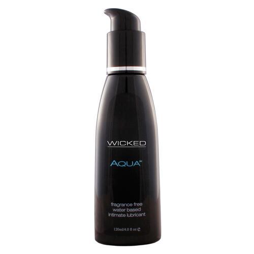 Wicked Aqua Fragrance Free Water Based Lube 120ml