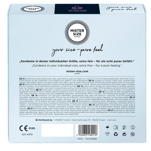 Mister Size 69mm Your Size Pure Feel Condoms 36 Pack