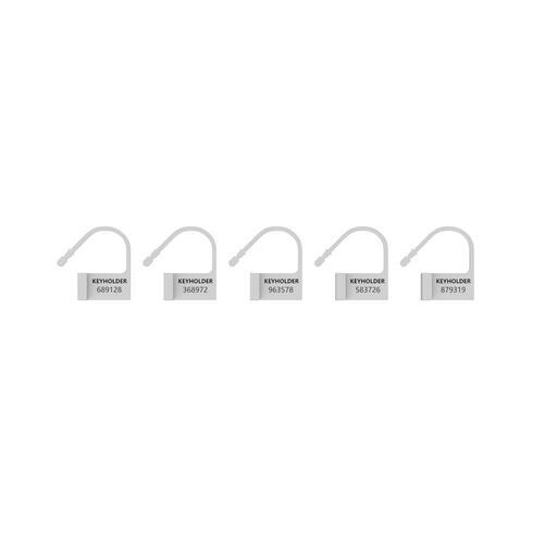 Man Cage White Spare Locks x5