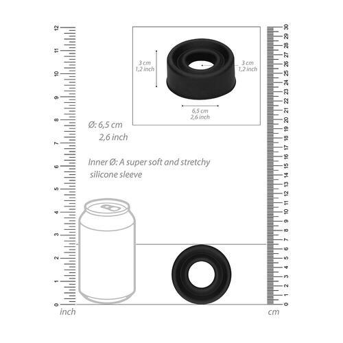 Pumped Black Silicone Pump Sleeve