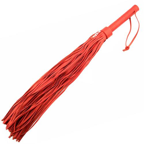 Large Red Leather Flogger