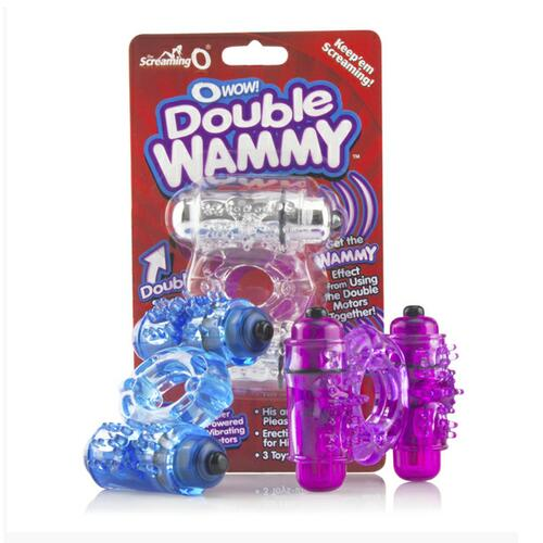 O Wow Double Whammy Vibrating Cock Ring