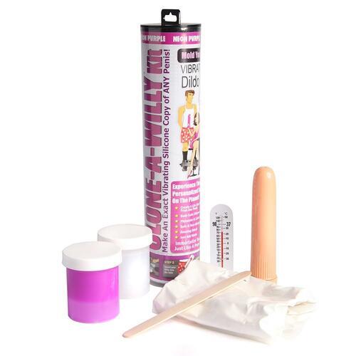 Clone A Willy Neon Purple Silicone Vibrator