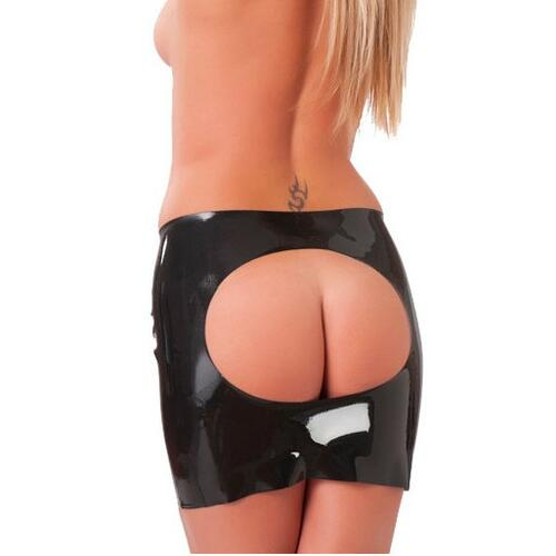 Rubber Secrets Open Back Mini Skirt