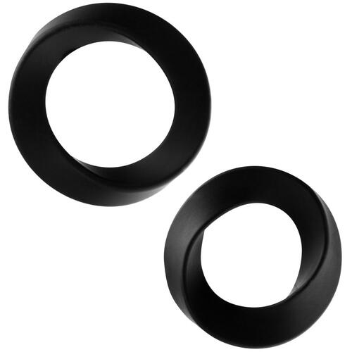 The Hellfire ll 2 Pack Black Cock Rings