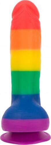 Addiction - Justin Rainbow Silicone Dildo - 20 cm