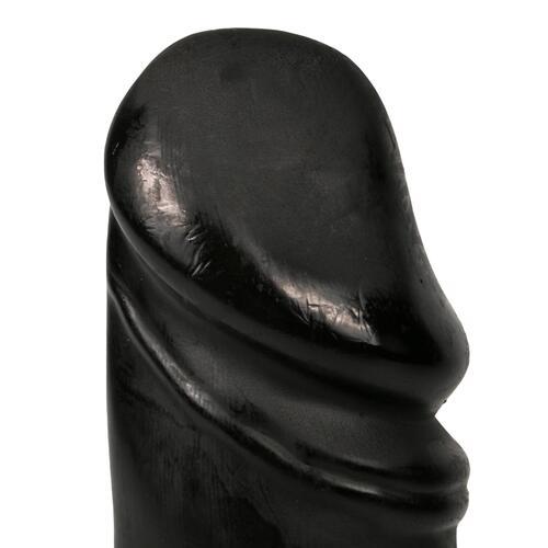 All Black Realistic Dildo 22 cm - Black