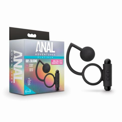 Anal Adventures- Platinum - Anal Ball with Vibrating Cockring