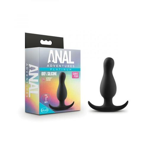 Anal Adventures Platinum - Curve Plug - Black