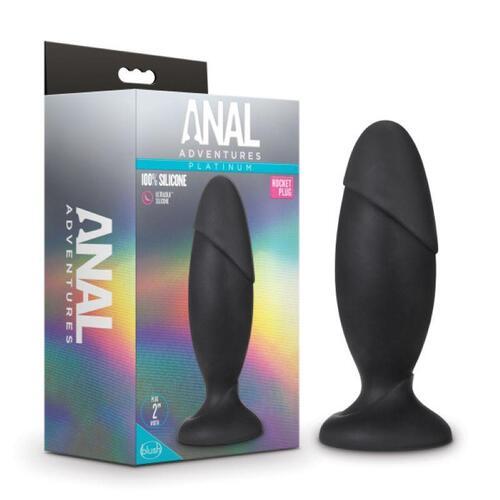 Anal Adventures Platinum - Silicone Rocket Plug