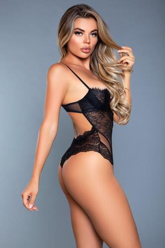 Ariella Lace Bodysuit - Black