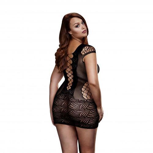 Baci - Sheer Fishnet Dress - Curvy