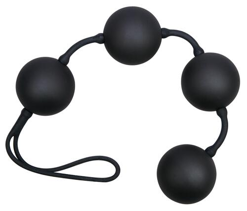 Black love string with 4 balls
