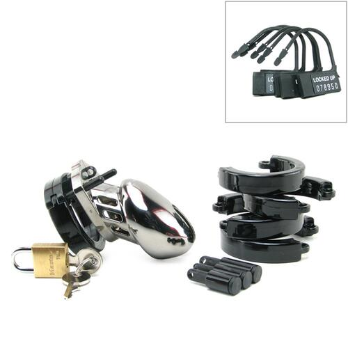 CB-6000S Chastity Cage - Chrome - 35 mm