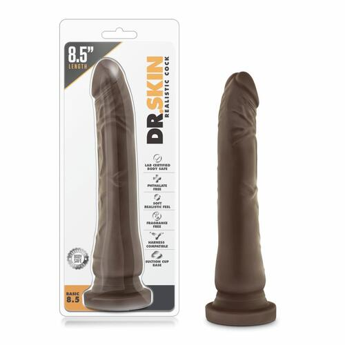 Dr. Skin - Realistic Dildo With Suction Cup 8.5'' - Chocolate