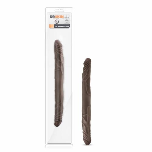 Dr. Skin - Realistic Double Dildo 14'' - Chocolate