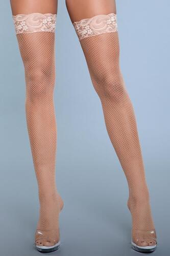 Kiss Goodnight Thigh High Stockings - Nude