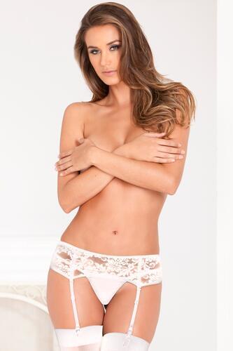 Lace Garter Belt - White