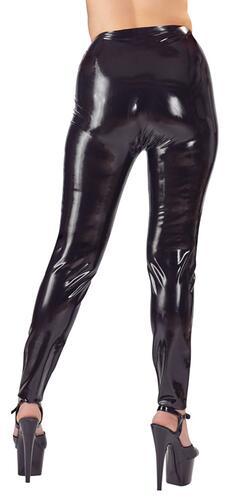 Latex Leggings With Dildos
