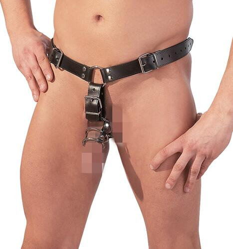 Leather mens thong anal