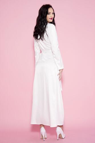 Long Satin Kimono - White