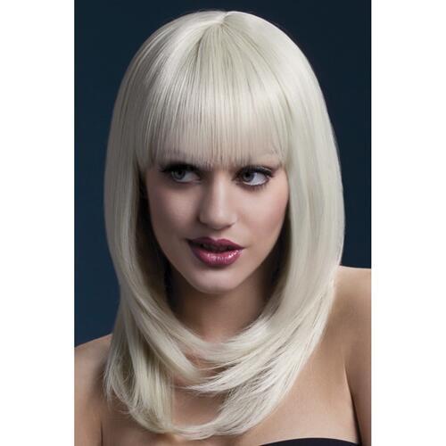Long Wig With Fringe - Blonde