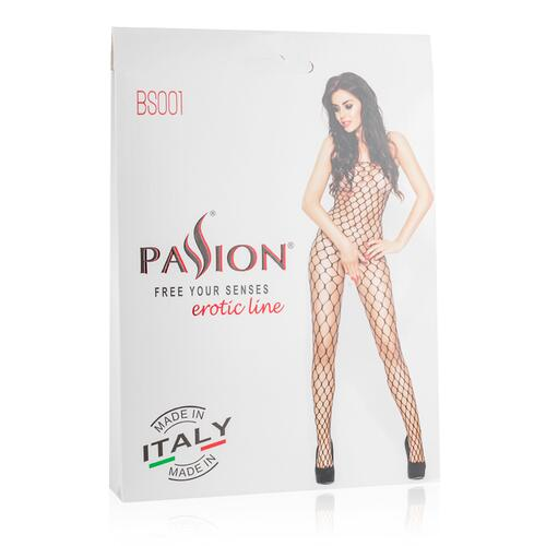 Net Bodystocking With Large Openings - Black