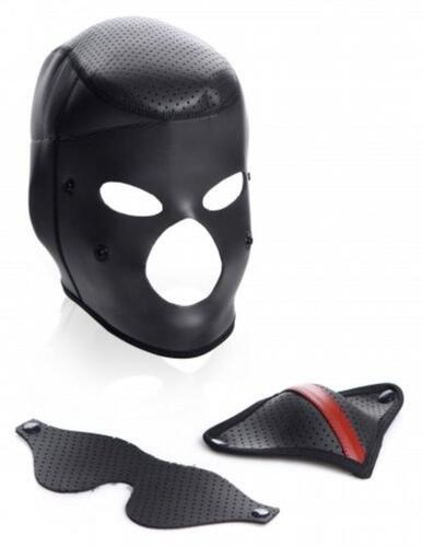 Scorpion Hood With Removable Blindfold And Mouth Mask