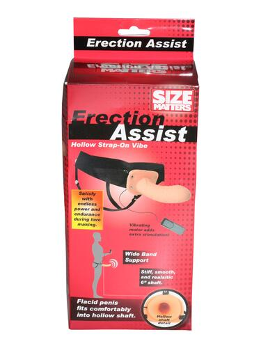 Size Matters Erection Assist Hollow Strap-On Vibe