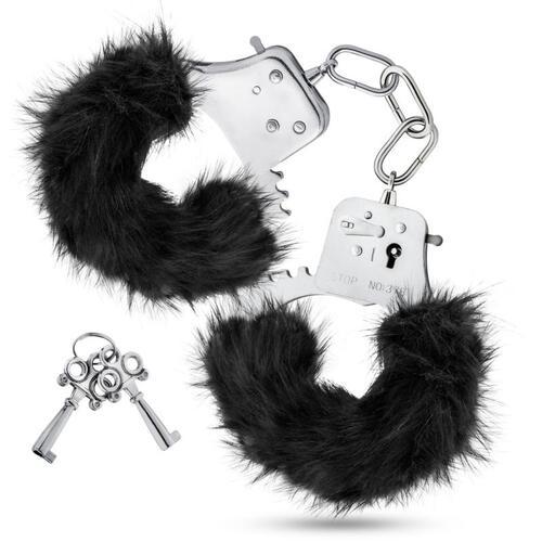 Temptasia - Plush Fur Cuffs - Black