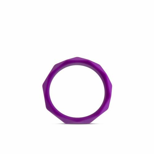 Wellness - Geo Silicone Cockring - Purple
