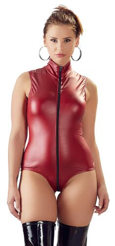 Wetlook Body With Open Crotch
