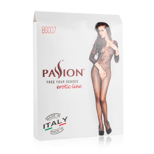 White Mesh Bodystocking With Open Crotch