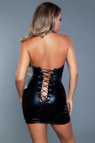 Yara Mini Corset Dress - Black